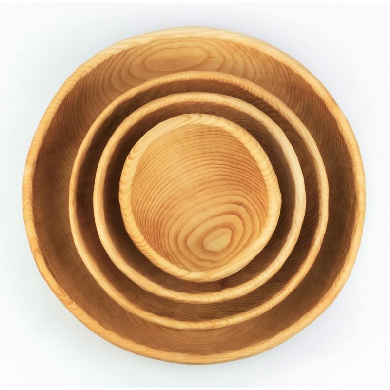 Комплект тарелок из таежного Кедра Р-30/к4